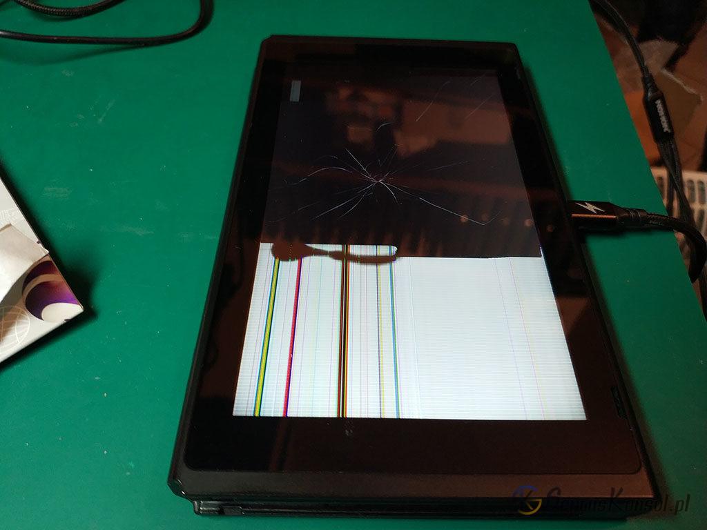 Uszkodzony fizycznie wyświetlacz Nintendo Switch